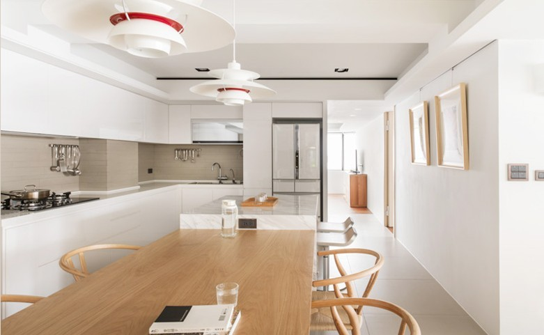 单身公寓现代简约_半开放式简约公寓装修效果图-x团图片