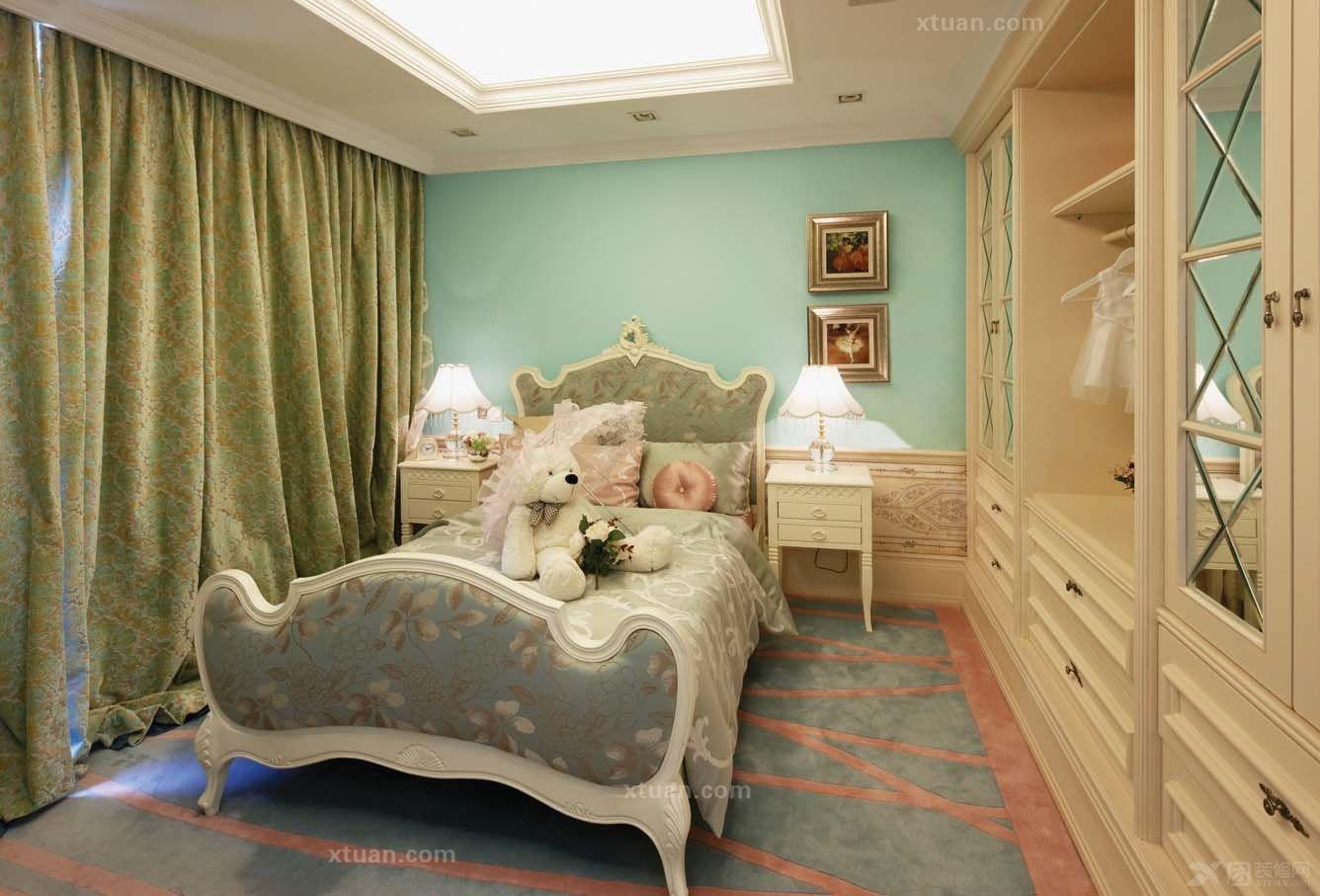 别墅欧式风格卧室_上海朗庭尚俊园别墅欧式风格设计