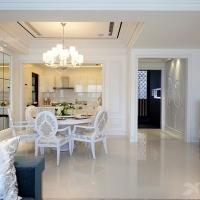山海浦江坤庭花园134平简欧风格设计