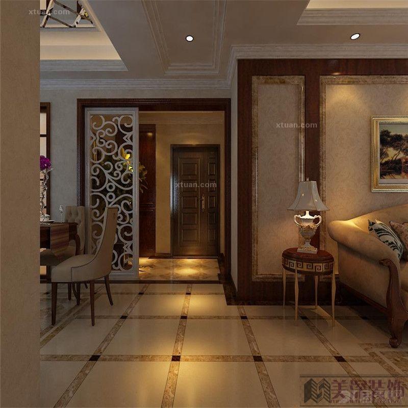 三室一厅欧式风格_新加坡花园城装修效果图-x团装修网