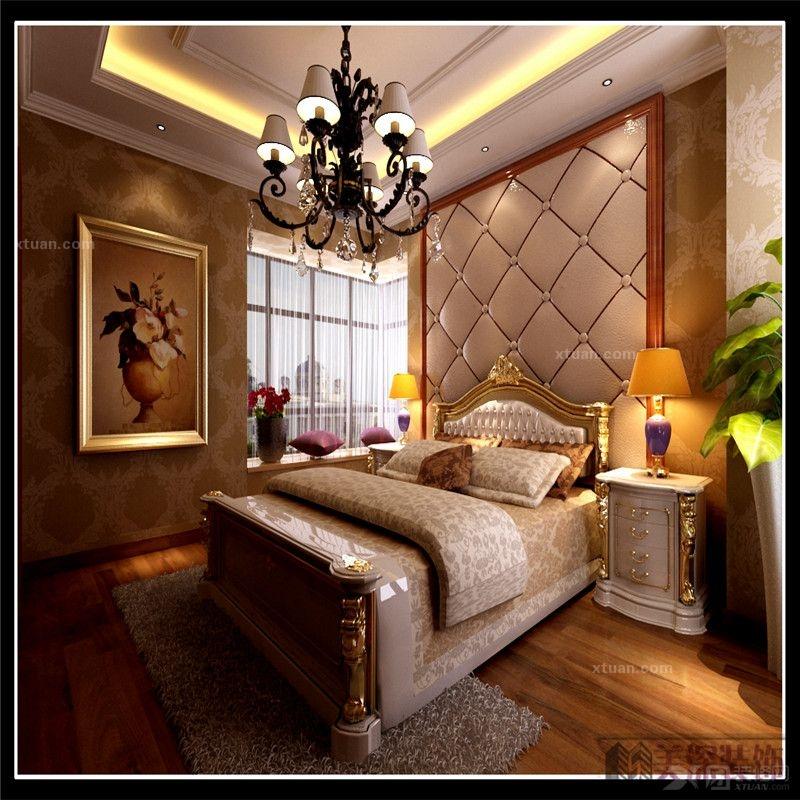 三室一厅欧式风格_新加坡花园城装修效果图-x团装修