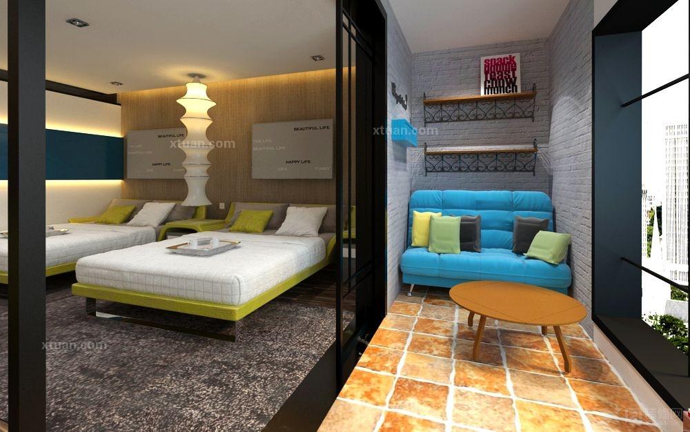 单身公寓现代风格阳台