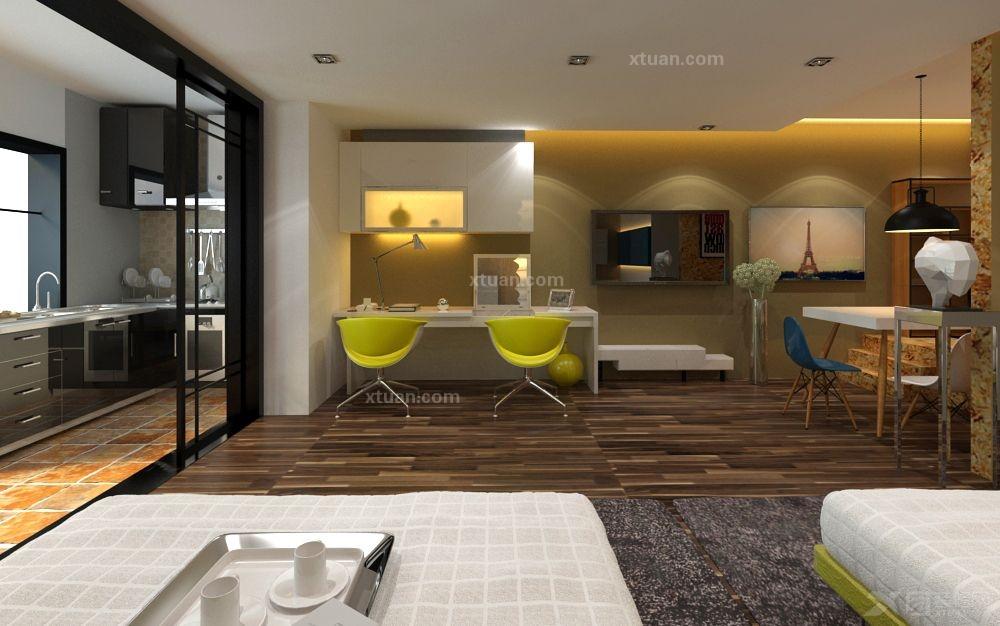 单身公寓现代风格客厅