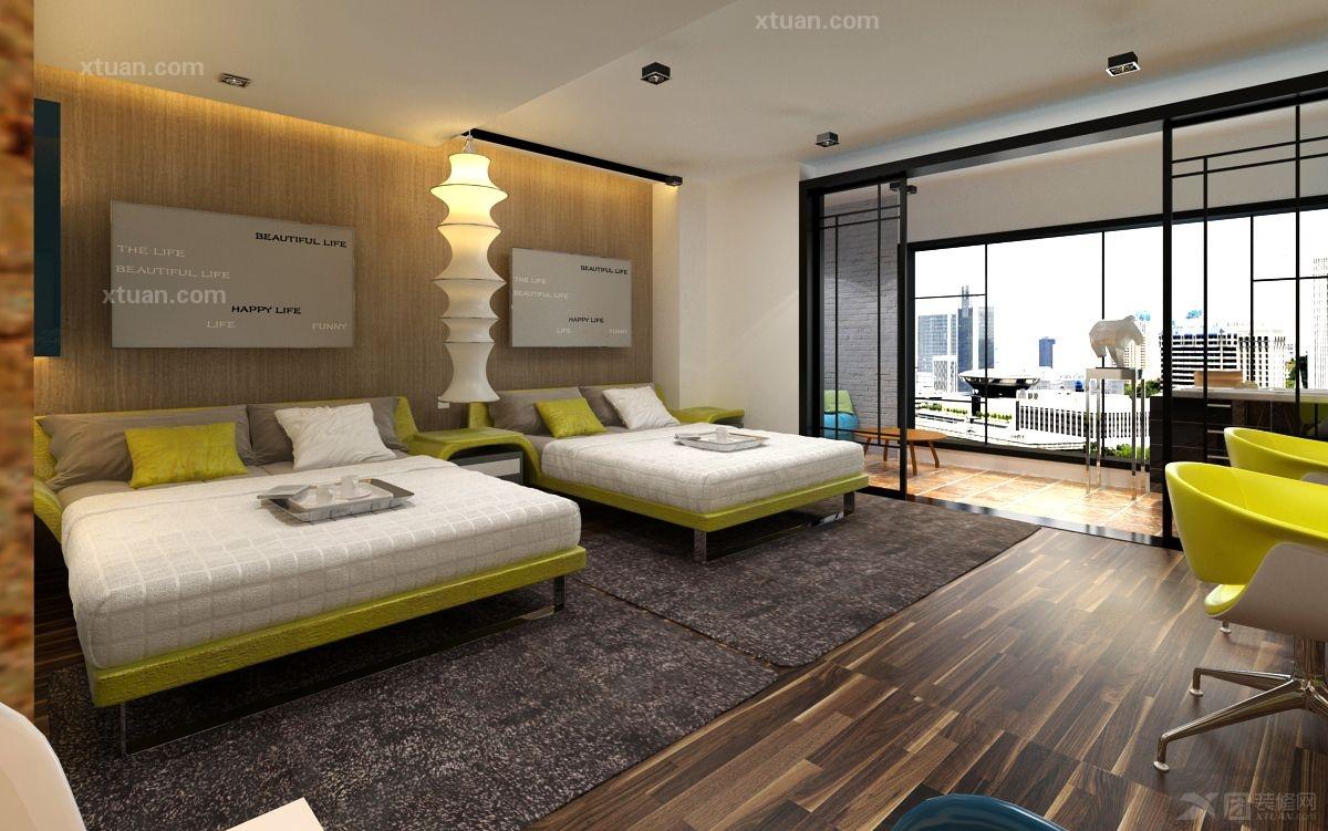 单身公寓现代风格卧室