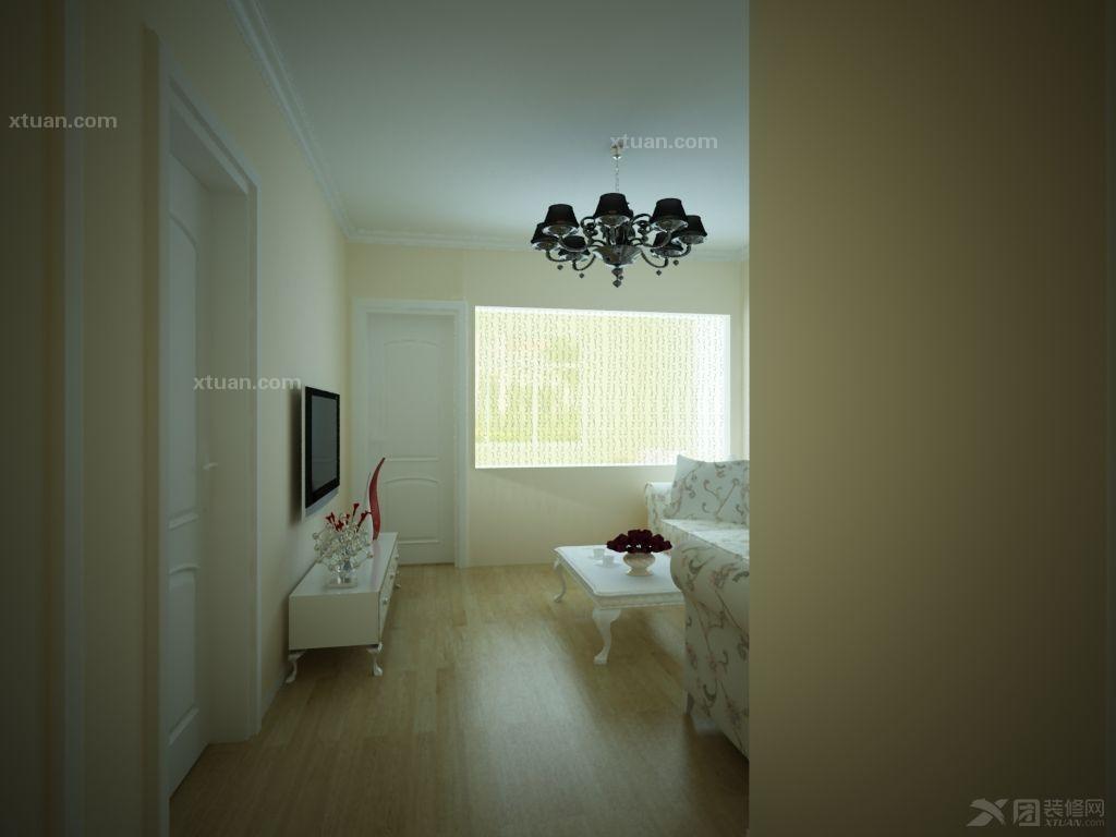 两室一厅简欧风格_盛世江山装修效果图-x团装修网图片