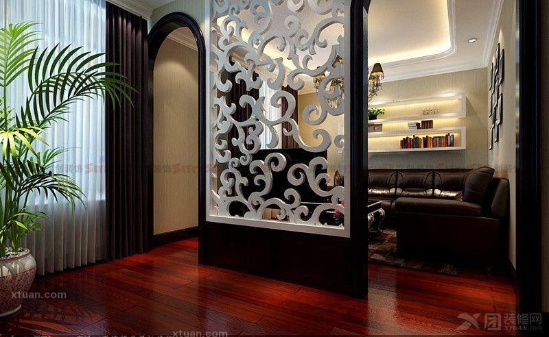 复式楼欧式风格客厅电视背景墙