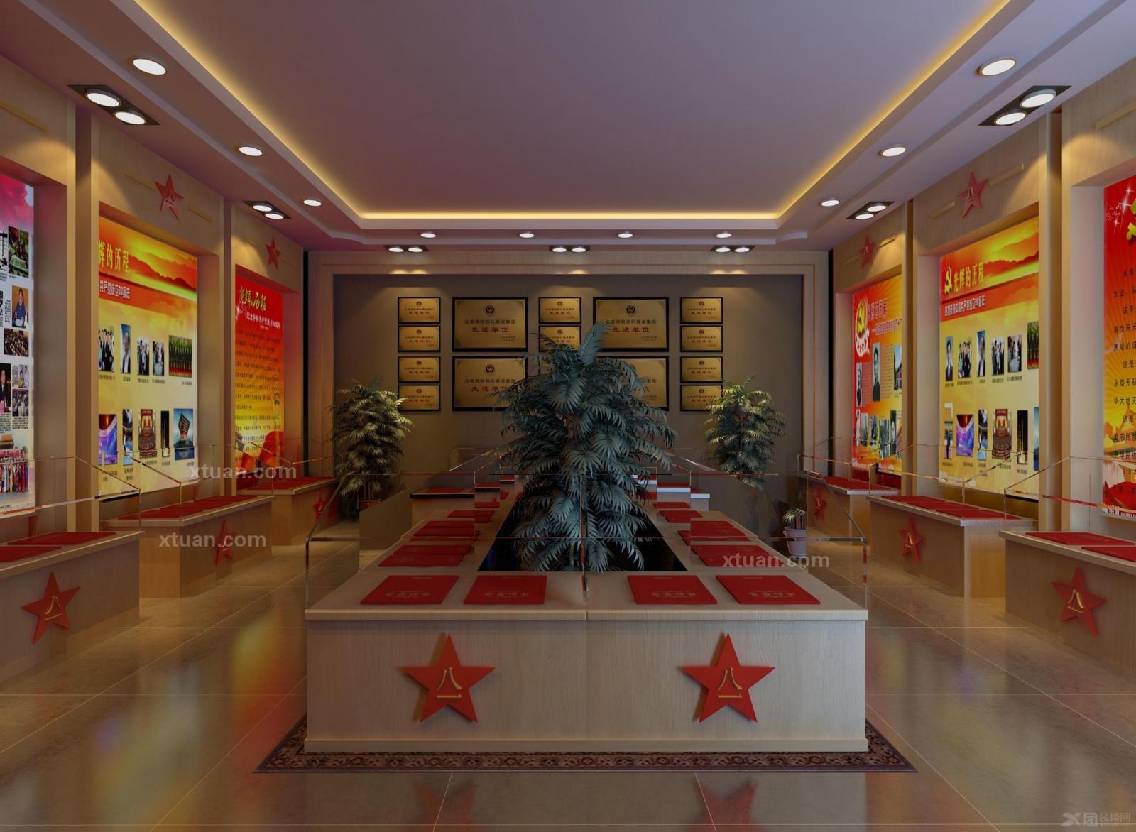 某部队荣誉室装修效果图 x团装修网 高清图片