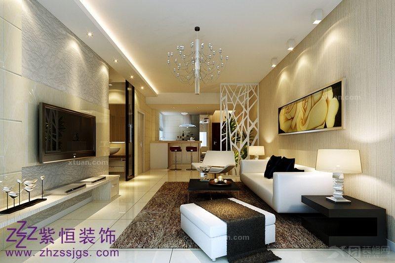 香榭花都普通住宅2室1厅1卫简约风格装修案例效果图