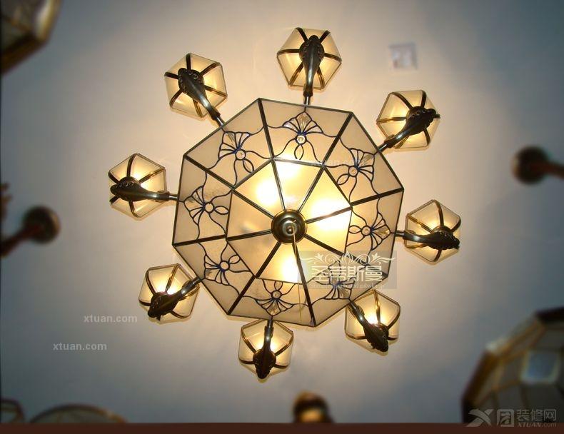 珠海装修网 珠海建材市场 雪朗灯饰 雪朗灯饰报价 圣蒂斯曼客厅全铜