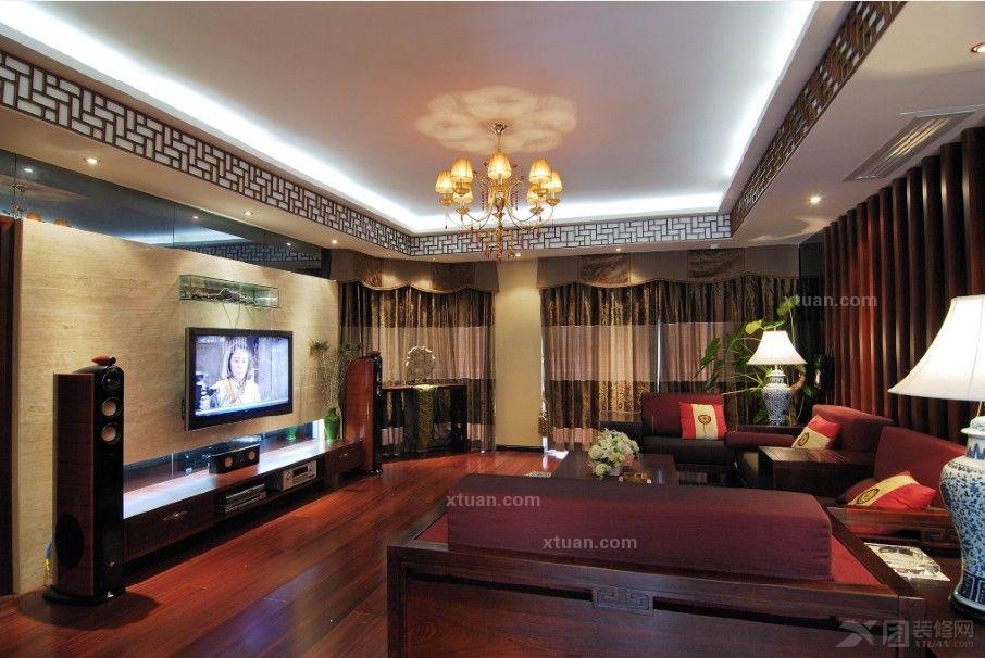 上海陆家嘴国际华城大平层中式古典风格设计