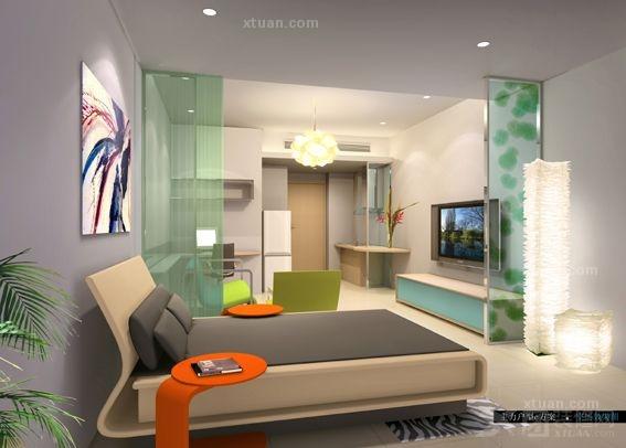 三居室客厅电视背景墙