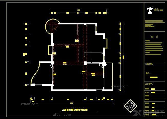 万豪·香江国际4#普通住宅3室2厅2卫简欧装修案例效果图