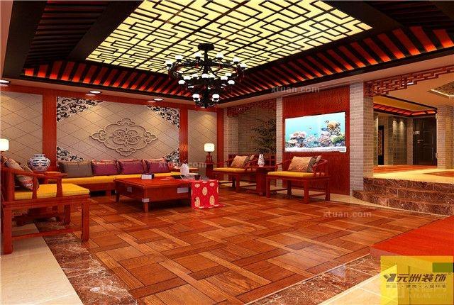 别墅中式风格客厅_贵阳元洲--山水黔城420平米中式图