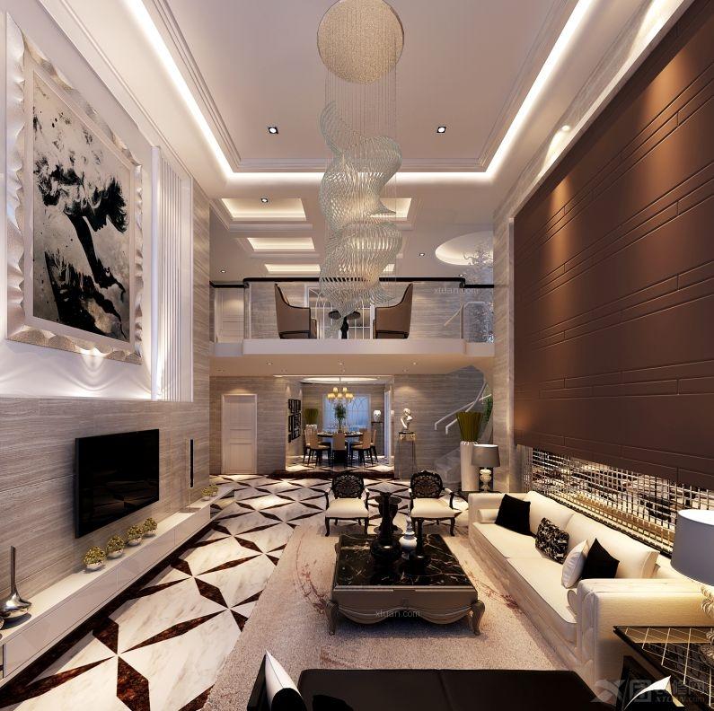 复式楼现代风格客厅