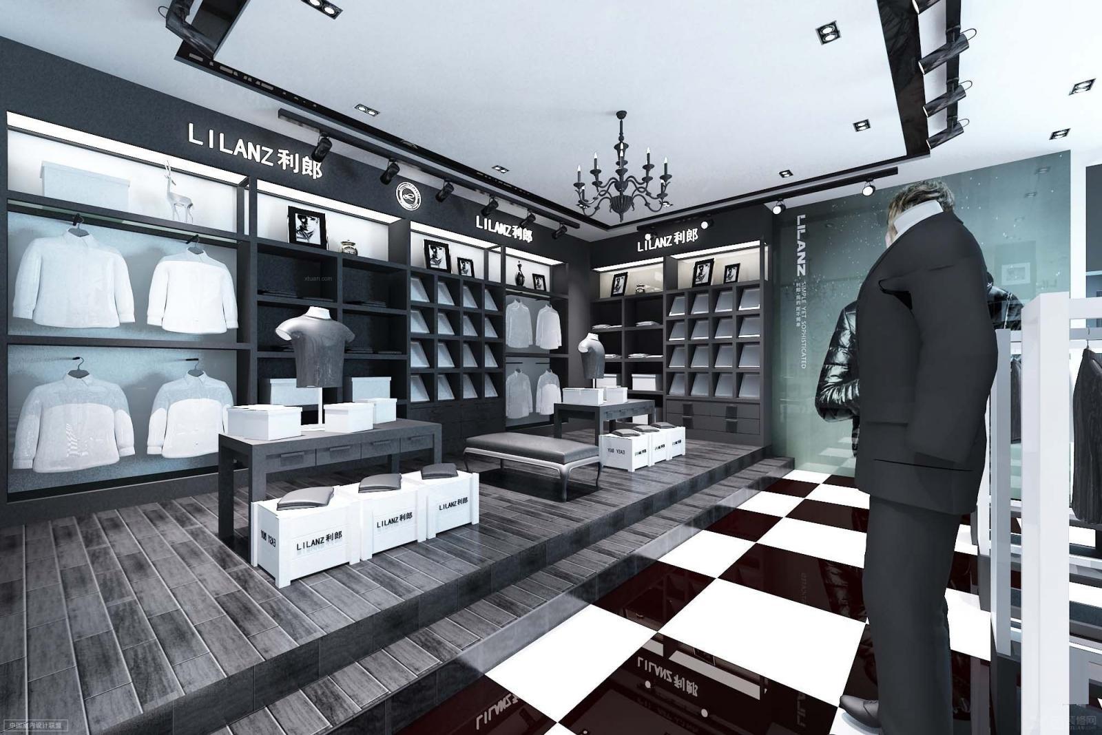 现代风格_服装专卖店设计装修效果图-x团装修网
