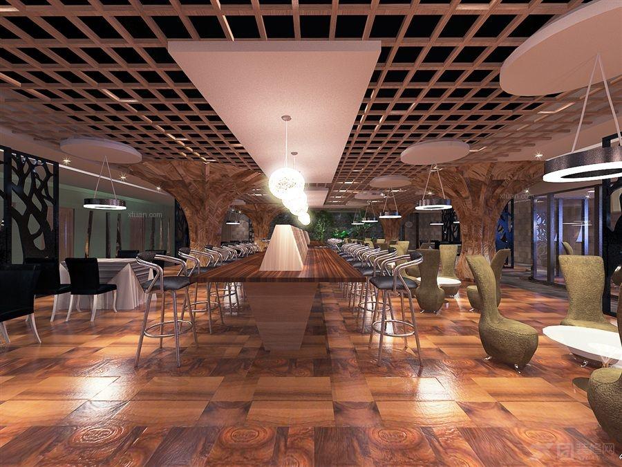 现代风格_咖啡店装饰设计装修效果图