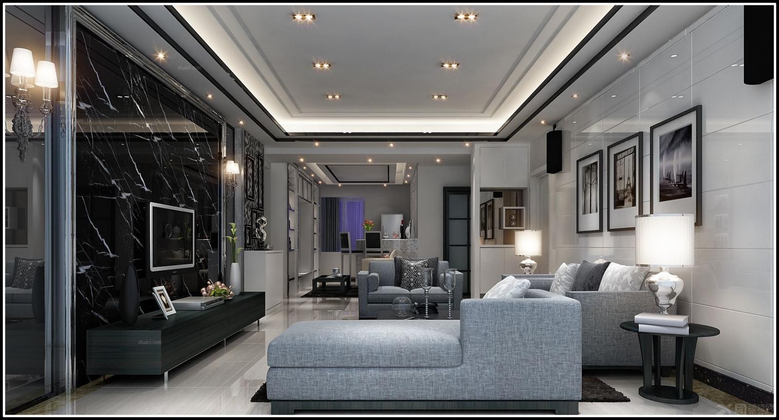 三室一厅现代风格_东坑皇家公馆装修效果图-x团装修网