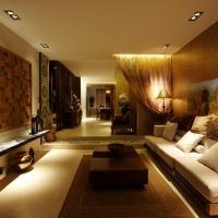 上海仁恒滨江园四居室户型东南亚风格设计