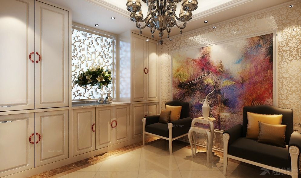 复式楼欧式风格客厅