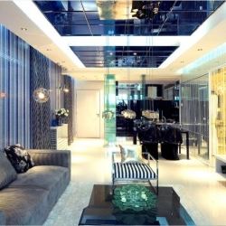 上海锦绣华都三居室户型现代风格装修设计