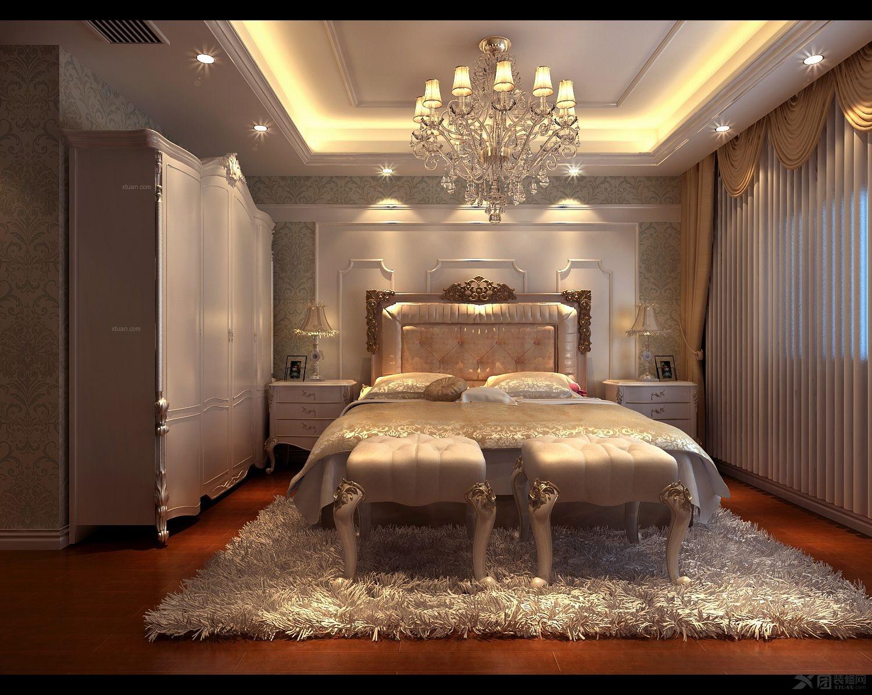 复式楼新古典卧室_融侨观邸1栋2301装修效果图-x团图片