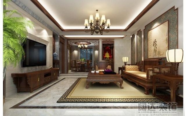 盘龙区龙江雅苑118平方米中式风格B4户型6.9万元