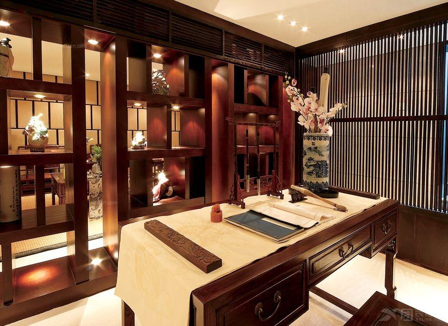 别墅中式风格书房