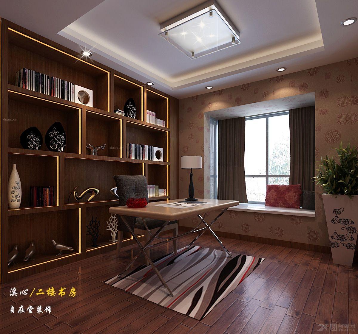 复式楼中式风格主卧室_溪心自建房装修效果图-x团装修图片