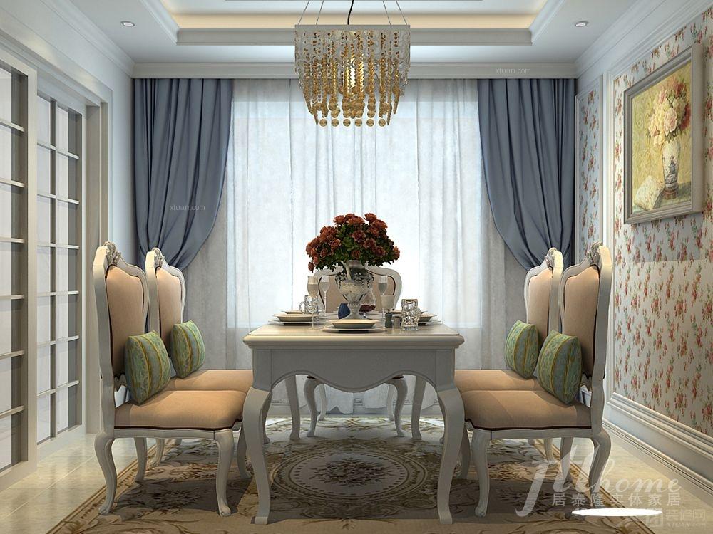 两室一厅简欧风格客厅_水榭春天5期装修效果图-x团图片