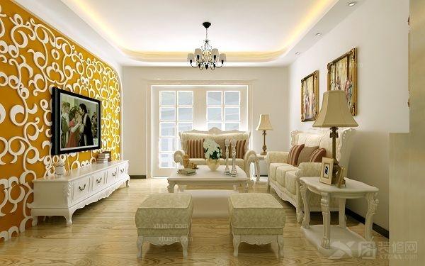 两居室欧式风格客厅图片