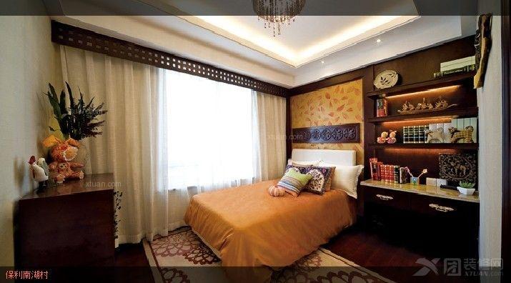 两室两厅欧式风格卧室卧室背景墙