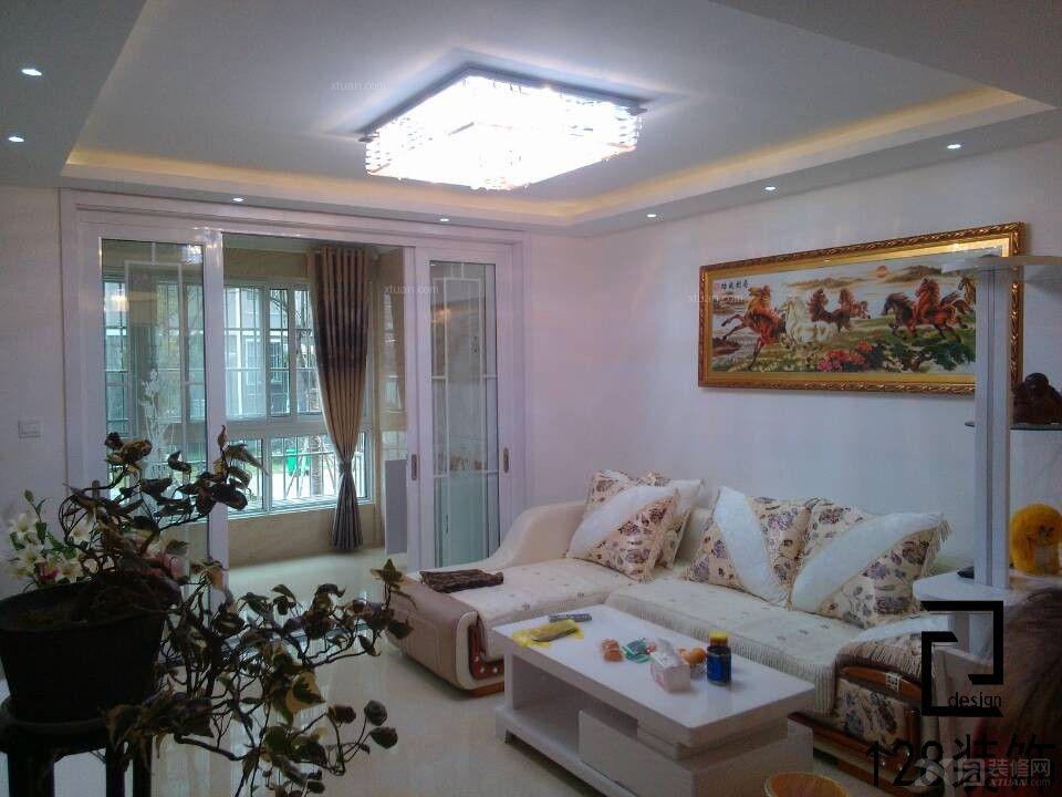 两室一厅简欧风格厨房_众城名府装修效果图-x团装修网图片