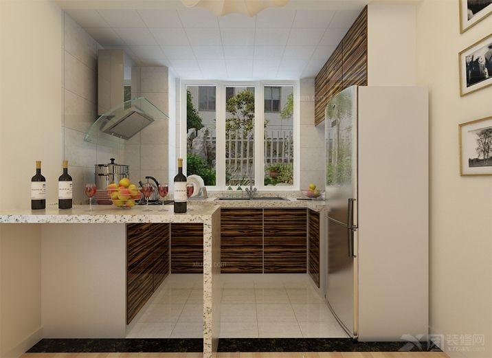 三室两厅现代风格厨房开放式厨房图片