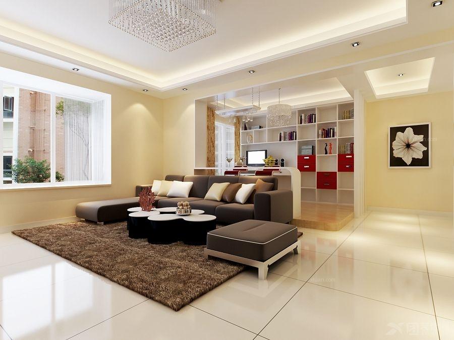 三居室现代简约客厅入户花园