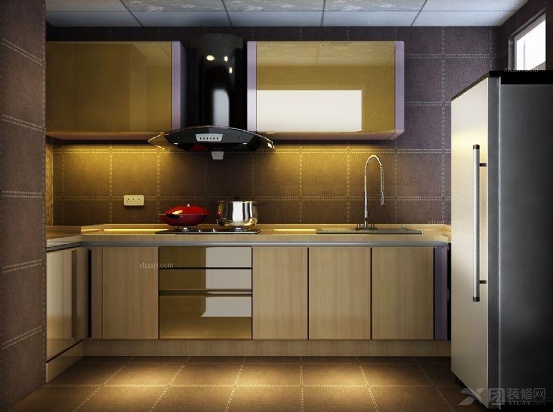 三室两厅现代简约厨房开放式厨房图片