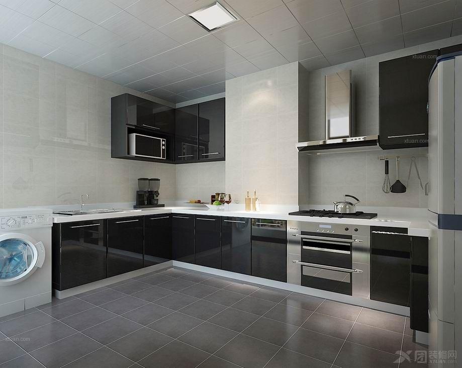 两室一厅现代简约厨房