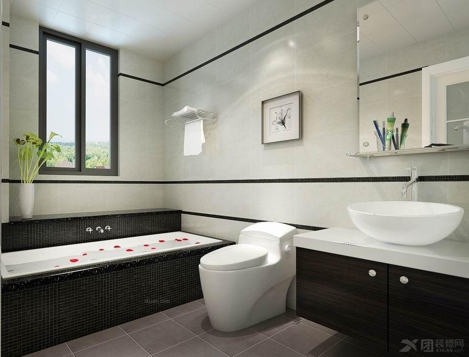 两室一厅现代简约浴室