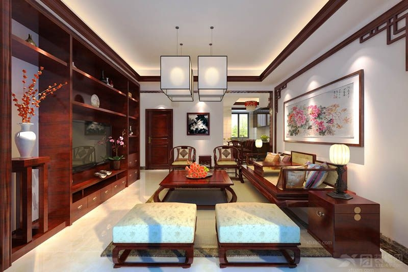 三室一厅中式风格