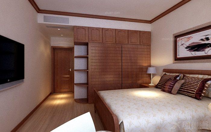 三室两厅中式风格_卓越蔚蓝群岛装修效果图-x团装修网图片