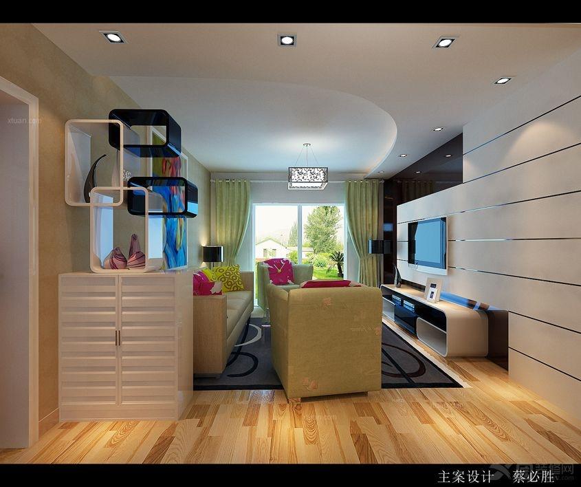 两居室现代简约客厅客厅隔断
