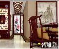 长湖苑——蔡生普通住宅3室2厅2卫新中式装修案例效果图