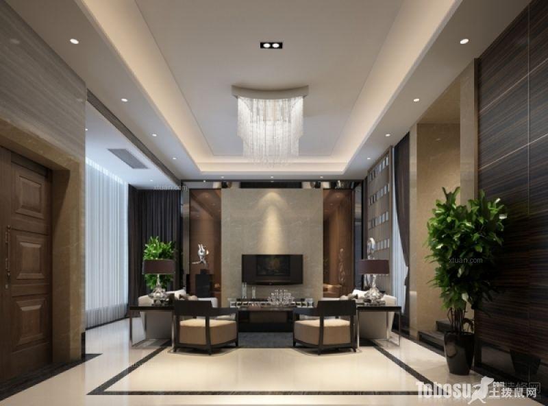 奥林匹克联排别墅联排别墅5室2厅4卫新中式装修案例效果图