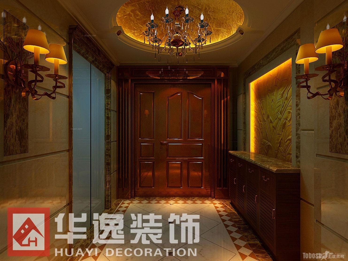 【珑湖湾】复式住宅8室4厅4卫欧式装修案例效果图