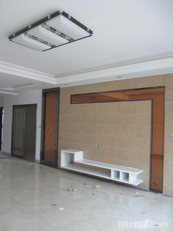 西湖榆景庭润居普通住宅3室2厅1卫现代装修案例效果图