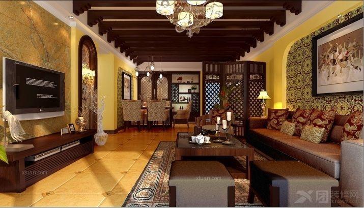 别墅中式风格客厅软装