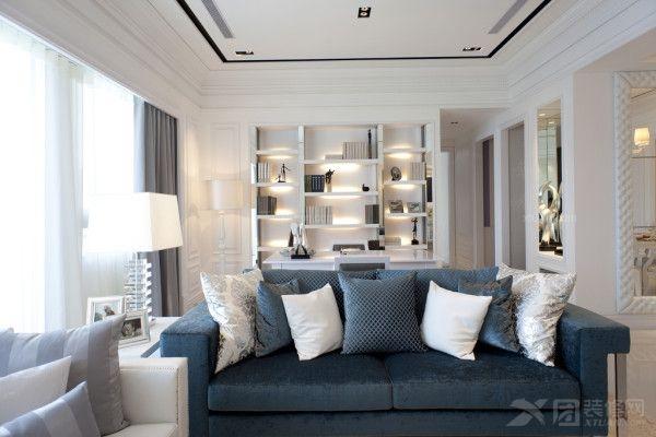 大户型简欧风格客厅沙发背景墙