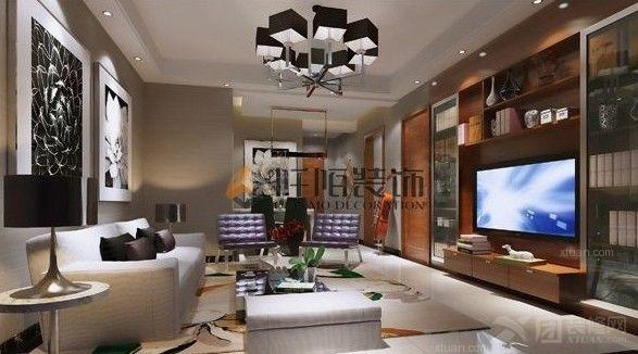 拉菲庄园普通住宅2室2厅1卫法式装修案例效果图