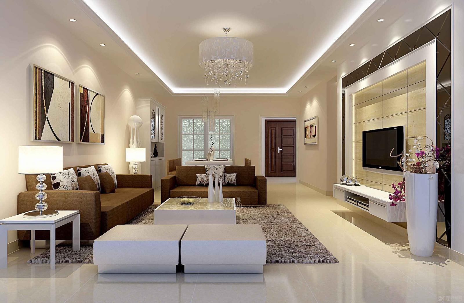 现代简约客厅装修效果图 x团装图片欣赏下载