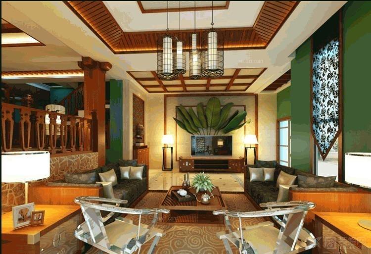 东南亚风格别墅效果图