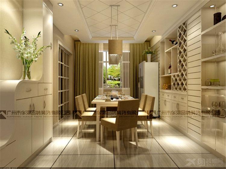别墅现代简约餐厅软装